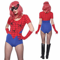 Sexy Superhero Spider Woman Girl Cosplay Costume Hen Party Fancy Dress Romper