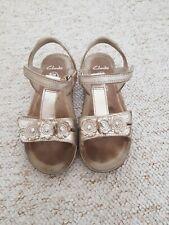 Girls Clarks Air Spring Gold Sandals 12.5 F