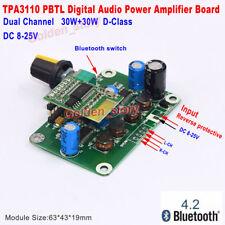 DC 8V-25V 30W+30W Bluetooth Digital Audio Power Amplifier Board Dual Channel