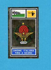CAMPIONI SPORT 1969-70-PANINI-Figurina- UITS TIRO A SEGNO -STEMMA/BADGE-Rec