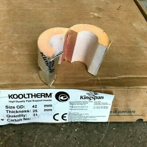 Kingspan Kooltherm Phenolic Form High Density Pipe Supports Inserts