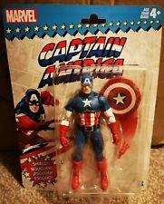 Retro Marvel Legends Wave 1 Captain America Action Figure With Shield
