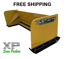 6' Xp24 snow pusher box skid steer Bobcat Case Caterpillar Free Shipping-Rtr