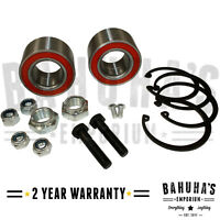 X2 FRONT WHEEL BEARING KIT PAIR + NUT FOR A VW GOLF Mk 2 83>92 *NEW*