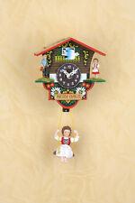 Schaukeluhr Schwarzwald Swinging doll clock Heidi MADE in GERMANY 501SQ