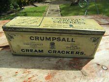 Antique Crumpsall WW1 Era Cream Cracker Patterned Biscuit Tin