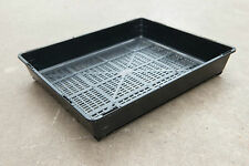 Outdoor Garden Black Plastic Rectangle Plant Seedling Vegetable Propagation Tray