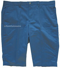 New Mens Marks & Spencer Blue Slim Shorts Waist 40