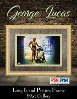 George Lucas Signed Star Wars Photo Newly Custom Framed FREE SHIP PSA DNA