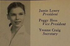 Yvonne Craig High School Yearbook 1953 Batgirl Batman 1960's Star Trek Elvis