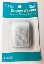 New listing Dritz Zinc Drapery Curtain Weights 4pc Per Package Free Us Shipping