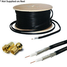 10m RG6 Twin Coaxial Cable & 4x F Connectors–Quality Satellite/SKY Extension Kit