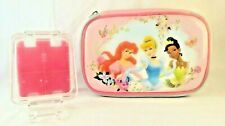 Nintendo DS LOT of 2 Disney Princess Zipper and Clear Hard shell Game Cases PINK