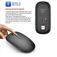 M90 Rechargeable Wireless BT 5.0 USB Dual Mode Gaming Mouse Mice For PC Laptop🔥