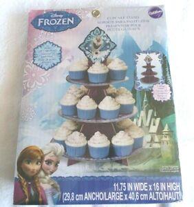 Wilton Frozen Anna Elsa Cupcake Stand Holds 24