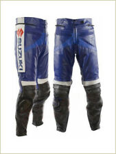 SUZUKI GSXR Mens Motorbike Leather Pant Racing Motorcycle Biker Leather Trosuer