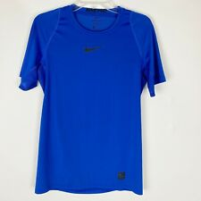 Nike Pro Dri-Fit Royal Blue Fitted Ss Tee - Men's Size S