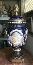 Antique English Porcelain and Bronze Urn.