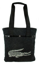 LACOSTE Anthracite Toned Flat Tote Shoulder Bag MSRP $98.00 *New With Tag*