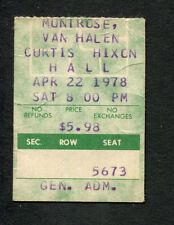 1978 Journey Van Halen Montrose Concert Ticket Stub Tampa Infinity Tour
