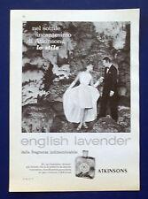 A572-Advertising Pubblicità-1960-ENGLISH LAVANDER ATKINSONS - PROFUMI