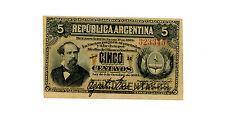 "Argentina ... P-5 ... 5 Centavos ... 1884 ... *XF* ... Serie ""R"""