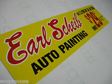 Vintage,50's, 60's ,70's, Earl Scheib,Auto Body,Painting,Sign,Aluminum 6x24