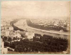 797 Paris Panorama Vue prise du Trocadero Photo albuminé vers 1875c X. Phot