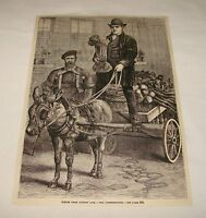 1880 magazine engraving ~ THE COSTERMONGER, London, England