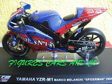 MOTO  GP 1/24 SERIE 2  YAMAHA YZR  M1 MELANDRI SPIDERMAN 2004
