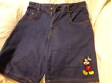 """Mickey Unlimited Size 34 Denim Women's Shorts 10"""" Inseam 4 Pocket Emboridered"""