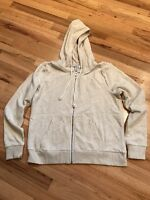 NWOT H&M Beige Hooded Zip Front Jacket Size Large