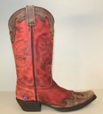 Redneck Riviera Womens Boots Size 8 Nikki Cowgirl Vintage Red RR1048 Hearts