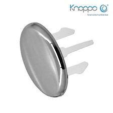 KNOPPO® SET 3 x Waschbecken Überlaufblende / Überlauf Abdeckung - Cap (chrom)