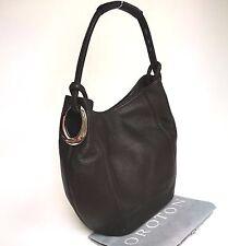 RRP$495 NEW OROTON Kiera B Hobo Handbag Shoulder Bag Leather Brown Chocolate