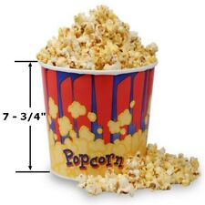 Case of 50 Large Popcorn Tubs 130 oz, Bucket Cup Gold Medal FREE SHIPPING
