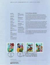 #0512 37c Art of Disney #3912-15 Souvenir Page