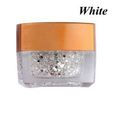 8 Colors Nail Art Powder Glitter Dust Polish UV GEL Acrylic Tips Decoration White