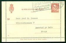 DENMARK 25ore #94 Letter card (58) used to NORWAY VF
