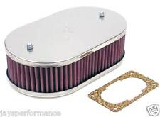 56-9006 Filtro aria K&N Custom Kit Per Singolo & Doppio Barile WEBER CARBURATORI