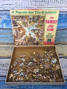 Extremely Rare 50's -60' s Tower Press Jigsaw No1 Our village Over 480 pc