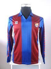 Original Barcelona Long Sleeve Home Football Shirt Jersey 1984-1989 (S)