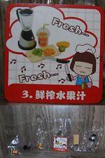 Miniature Re ment Orcara Store Canteen Caca Food Set 3 full