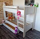 Hochbett Kinderzimmer Etagen Doppelbett Rollrost Schublade weiß grau braun rosa günstig