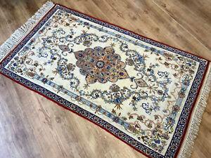 Feiner Perser Orient Teppich Isfahan Alt Korkwolle auf Seide 175 x 102 Traumhaft