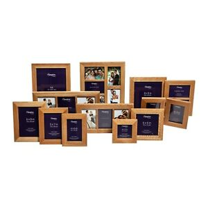 New England Solid Oak Wood Photo Picture Frames Square Rectangle Multi Aperture