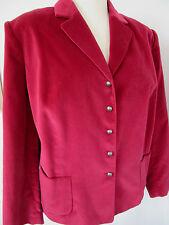 TALBOTS WOMAN Red Wine Velvet Blazer Suit Jacket Plus 20W NWOT