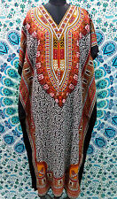New Floral Paisley Beautiful Kaftan, Boho Hippy Cocktail Maxi Dress, Free Size