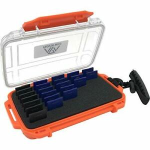 Waterproof SD Card Holder - Holds 35 Standard SD Cards Upright.
