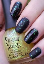 NEW FingerPaints Nail Polish Flakies Top Coat FLECKED Finger Paints DISCONTINUED